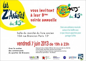 Invitation ZaZ'Arts 07 juin 2013